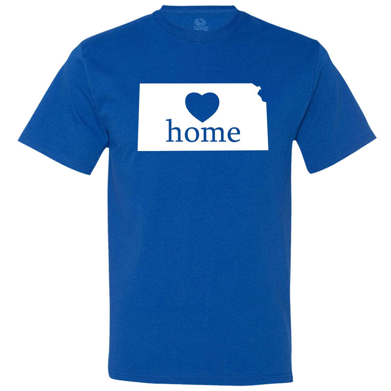 """Kansas Home State Pride, Pink"" men's t-shirt Royal-Blue"