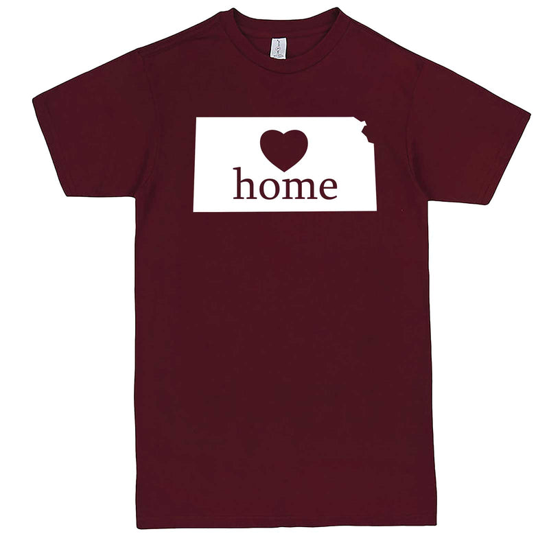 """Kansas Home State Pride, Pink"" men's t-shirt Burgundy"