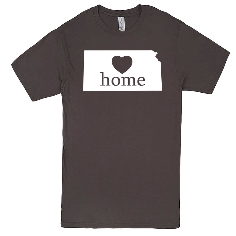 """Kansas Home State Pride, Pink"" men's t-shirt Charcoal"