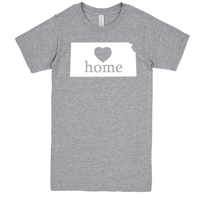 """Kansas Home State Pride, Pink"" men's t-shirt Heather-Grey"