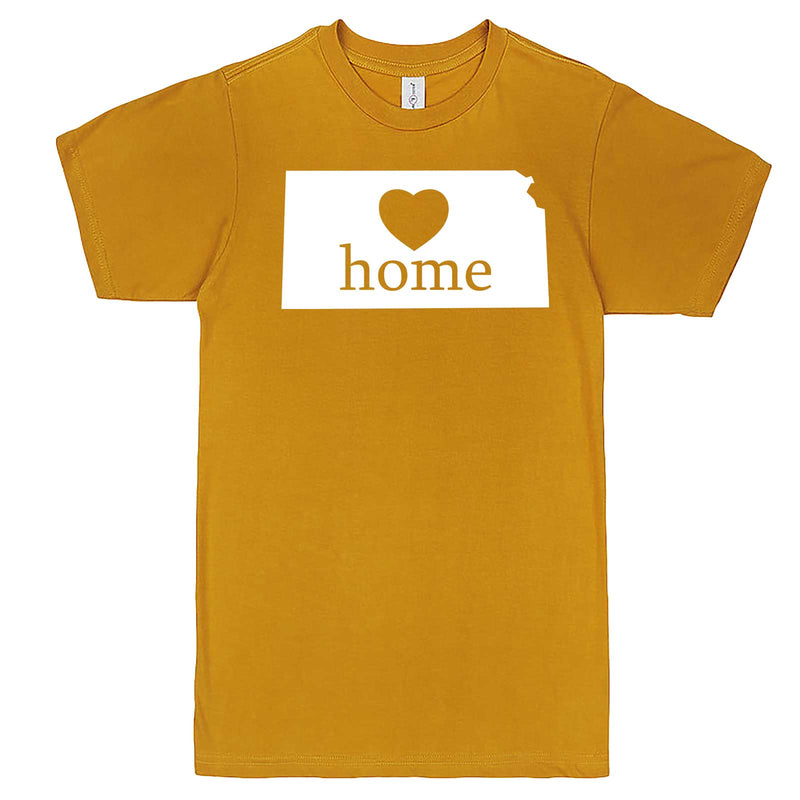 """Kansas Home State Pride, Pink"" men's t-shirt Mustard"