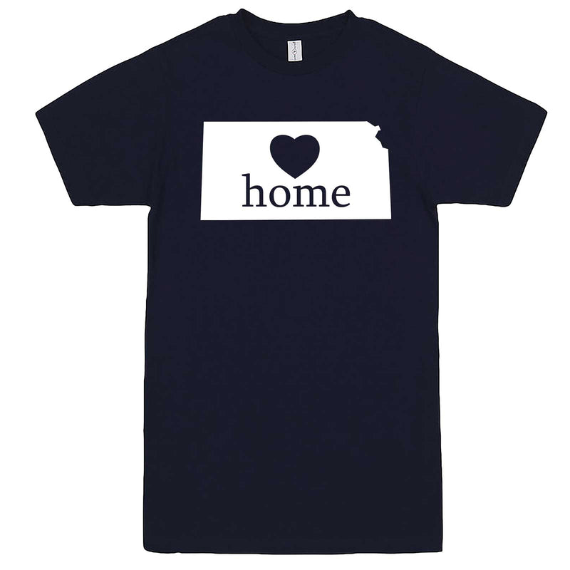 """Kansas Home State Pride, Pink"" men's t-shirt Navy-Blue"