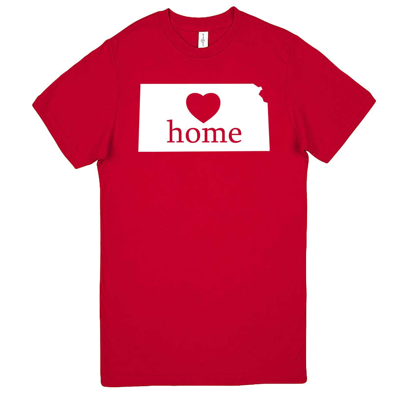 """Kansas Home State Pride, Pink"" men's t-shirt Red"