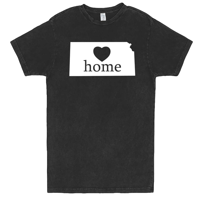 """Kansas Home State Pride, Pink"" men's t-shirt Vintage Black"