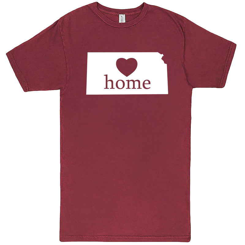 """Kansas Home State Pride, Pink"" men's t-shirt Vintage Brick"