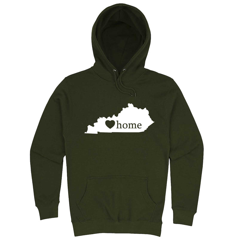 """Kentucky Home State Pride"" hoodie, 3XL, Army Green"