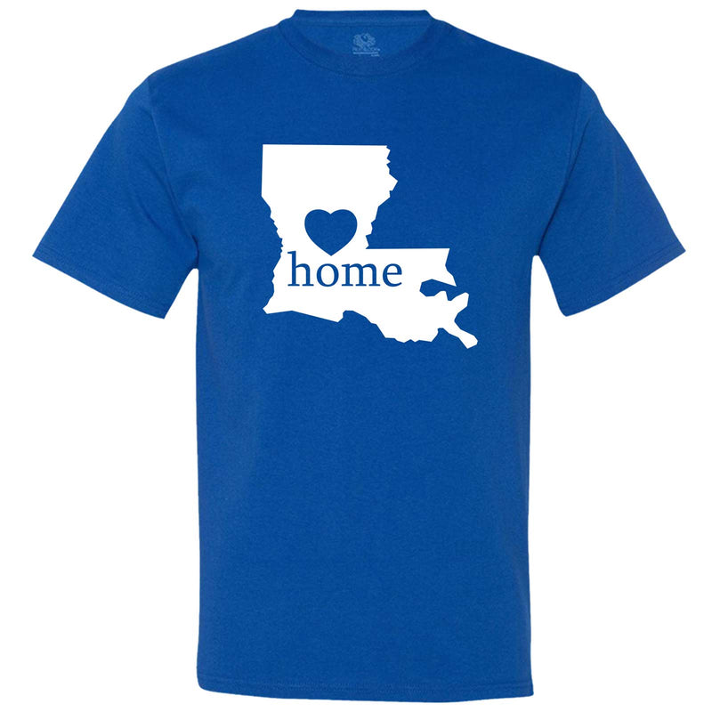 """Louisiana Home State Pride"" men's t-shirt Royal-Blue"