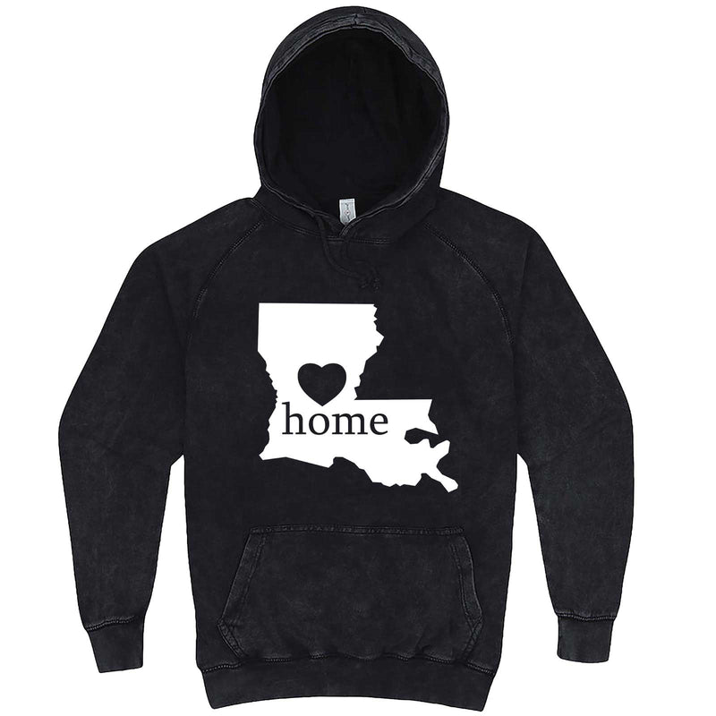 """Louisiana Home State Pride"" hoodie, 3XL, Vintage Black"