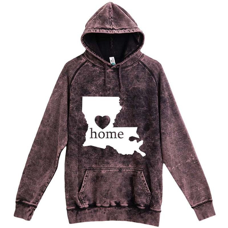 """Louisiana Home State Pride"" hoodie, 3XL, Vintage Cloud Black"