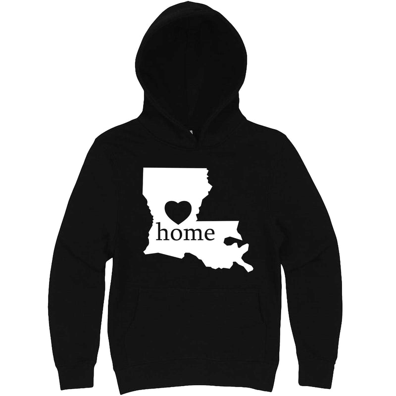 """Louisiana Home State Pride"" hoodie, 3XL, Black"