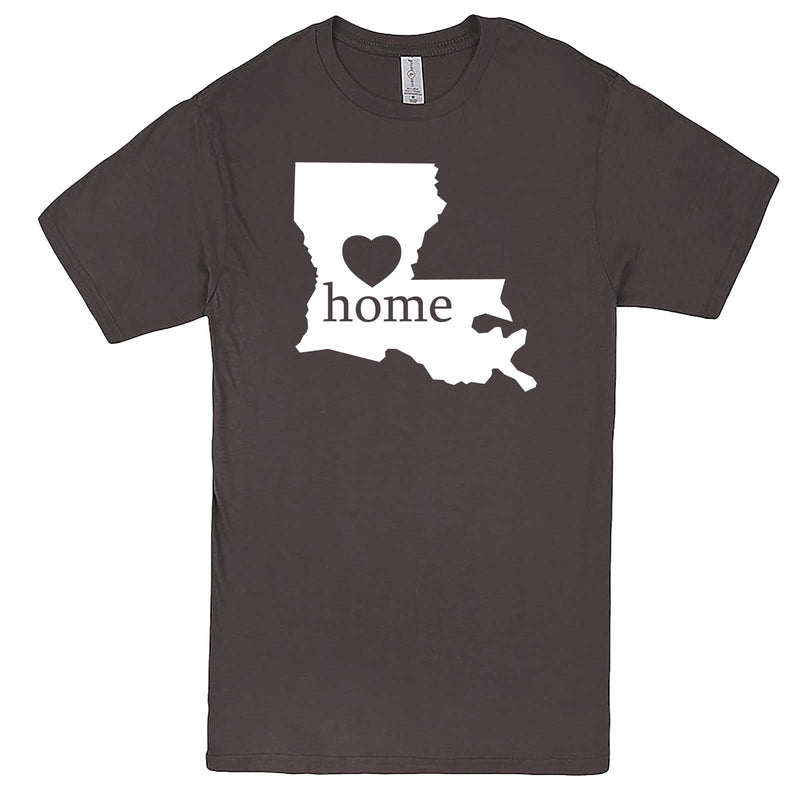 """Louisiana Home State Pride"" men's t-shirt Charcoal"