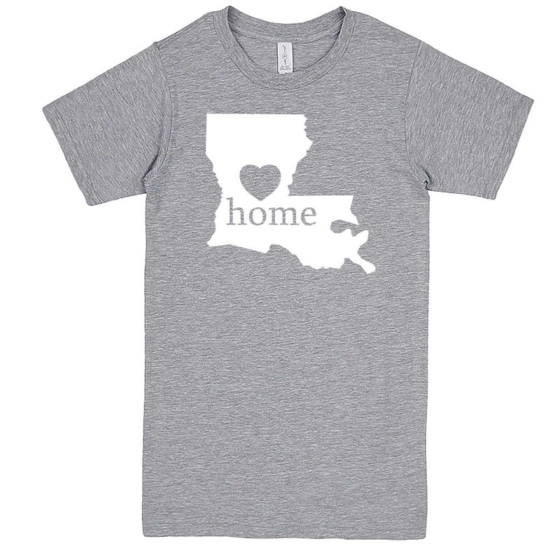 """Louisiana Home State Pride"" men's t-shirt Heather-Grey"