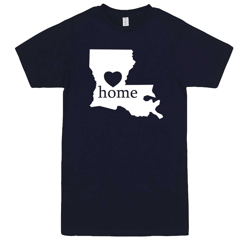 """Louisiana Home State Pride"" men's t-shirt Navy-Blue"