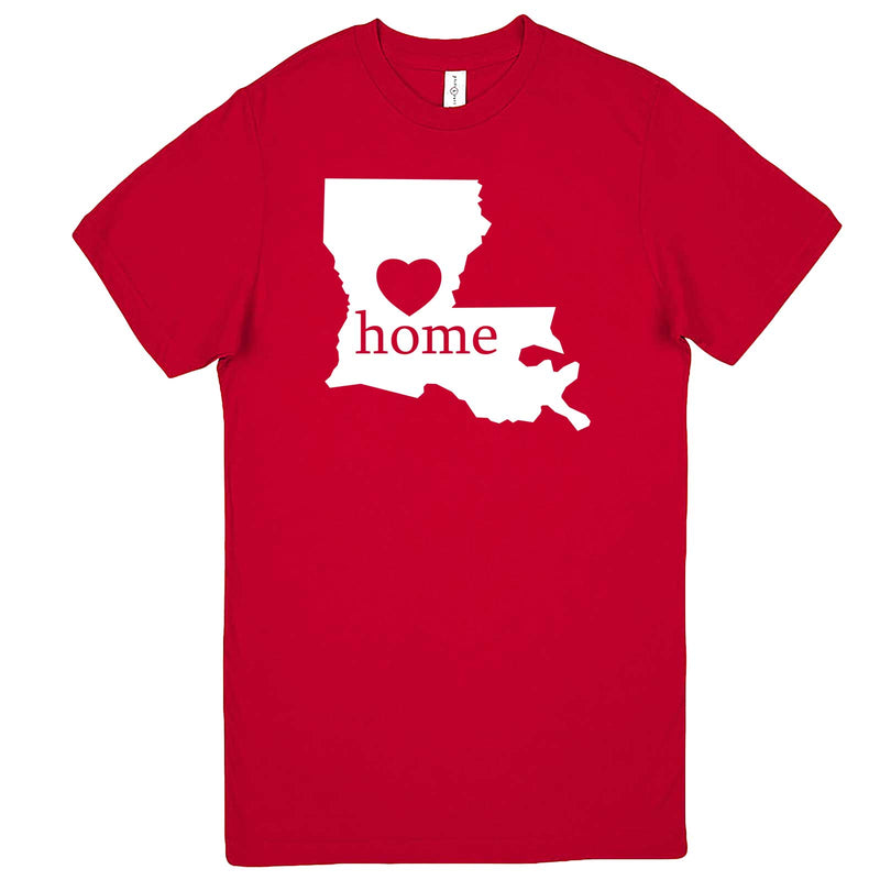 """Louisiana Home State Pride"" men's t-shirt Red"
