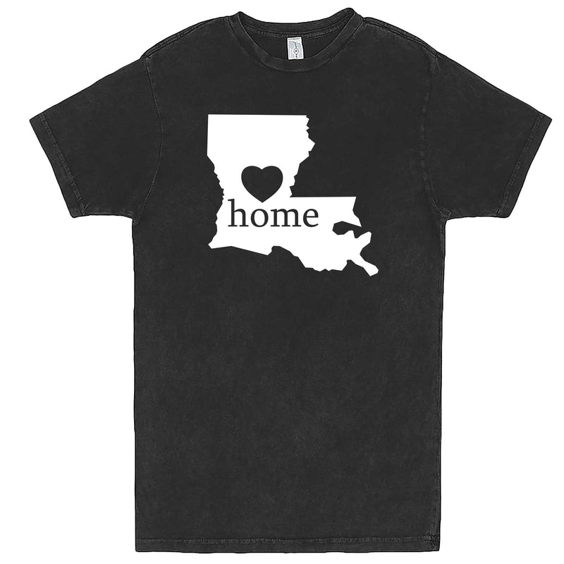 """Louisiana Home State Pride"" men's t-shirt Vintage Black"