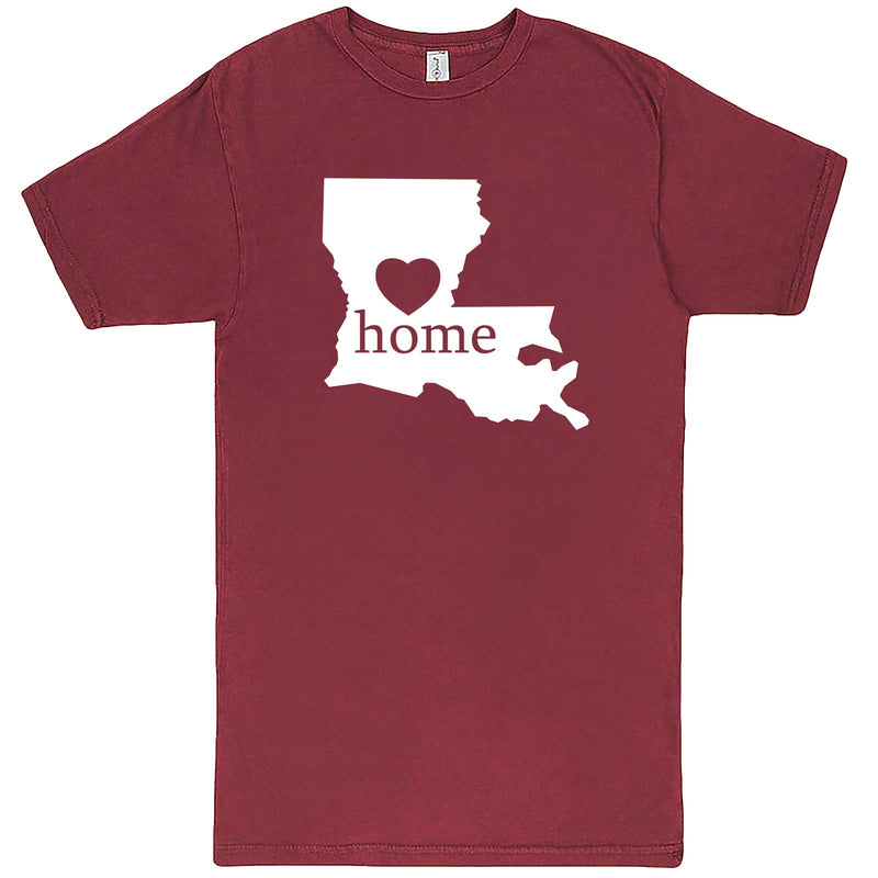 """Louisiana Home State Pride"" men's t-shirt Vintage Brick"