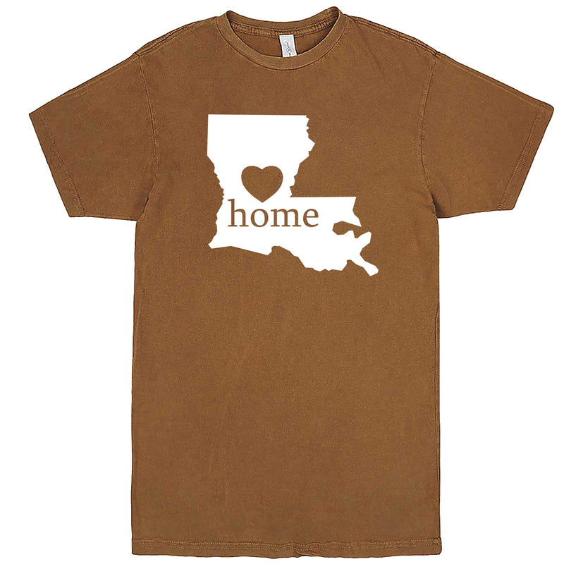 """Louisiana Home State Pride"" men's t-shirt Vintage Camel"