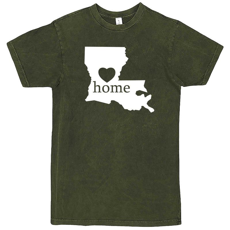 """Louisiana Home State Pride"" men's t-shirt Vintage Olive"