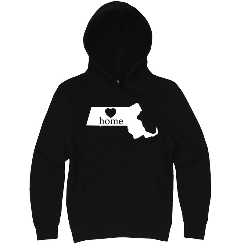 """Massachusetts Home State Pride"" hoodie, 3XL, Black"