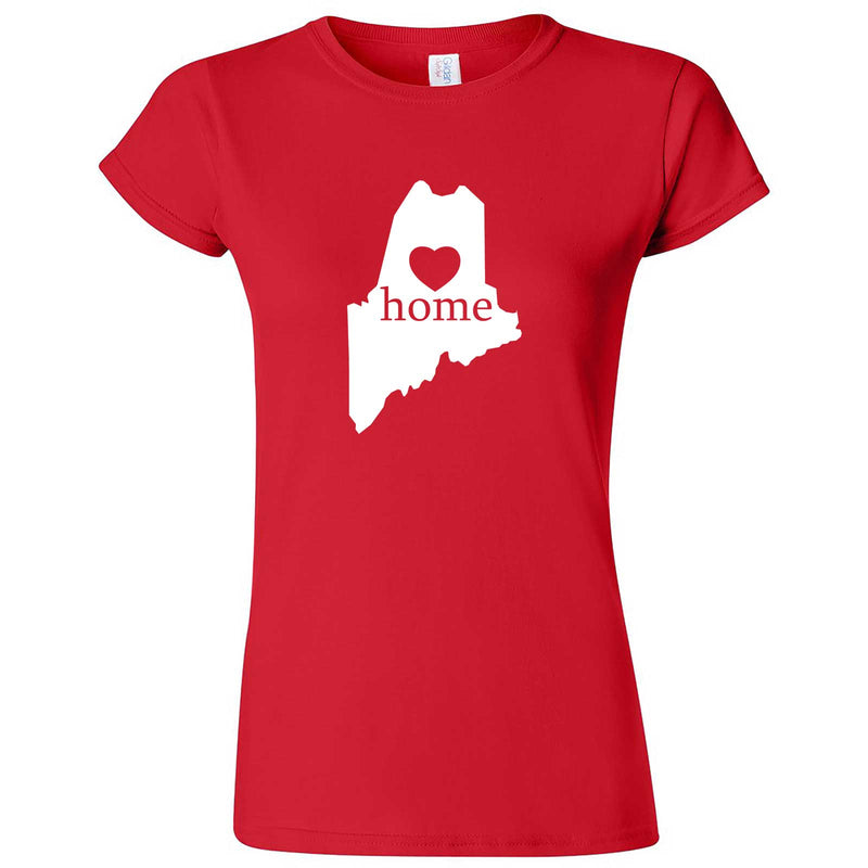 """Maine Home State Pride"" women's t-shirt Red"