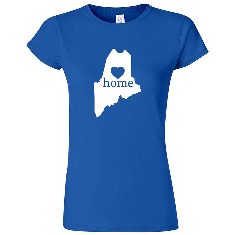 """Maine Home State Pride"" women's t-shirt Royal Blue"
