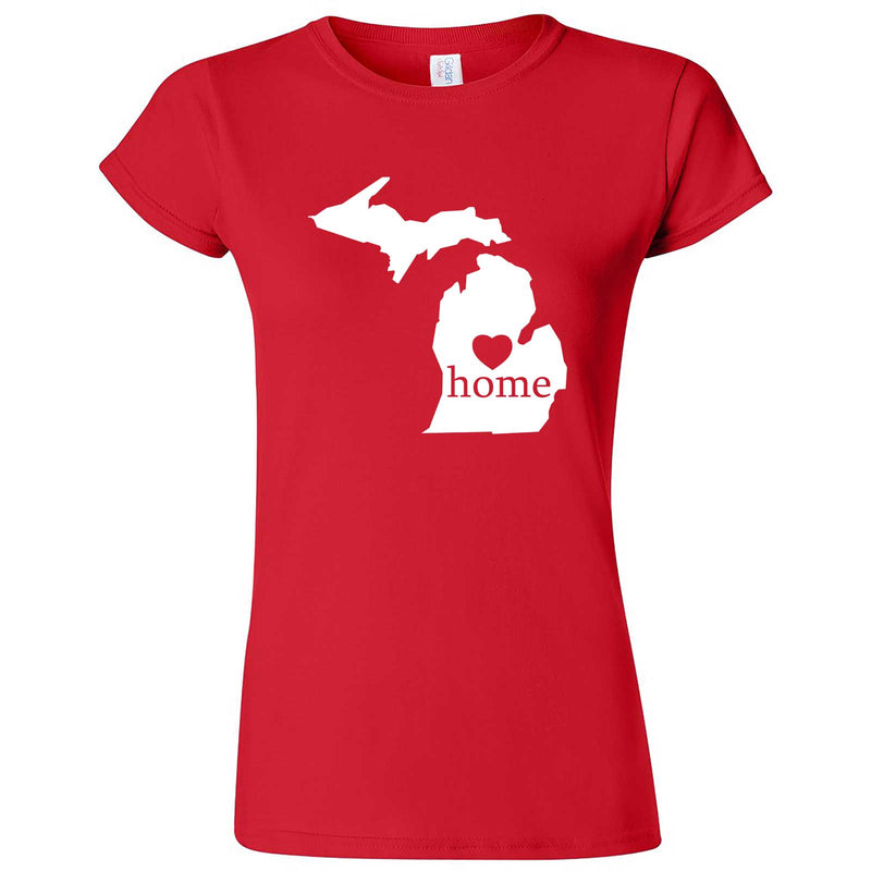 """Michigan Home State Pride"" women's t-shirt Red"