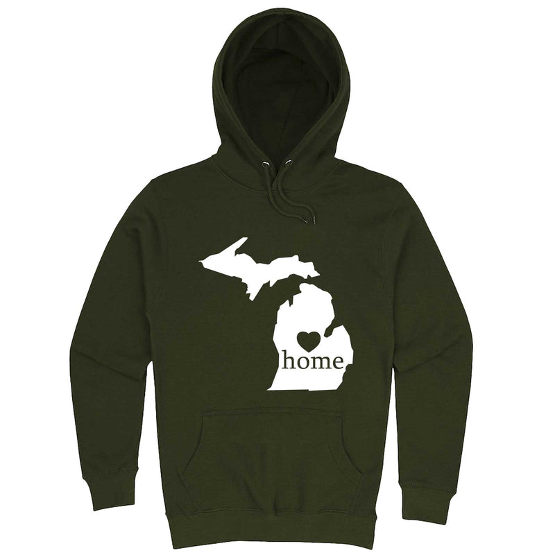 """Michigan Home State Pride"" hoodie, 3XL, Army Green"