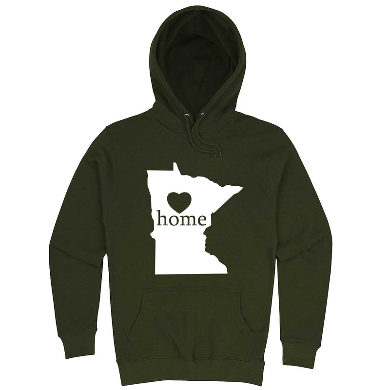 """Minnesota Home State Pride"" hoodie, 3XL, Army Green"