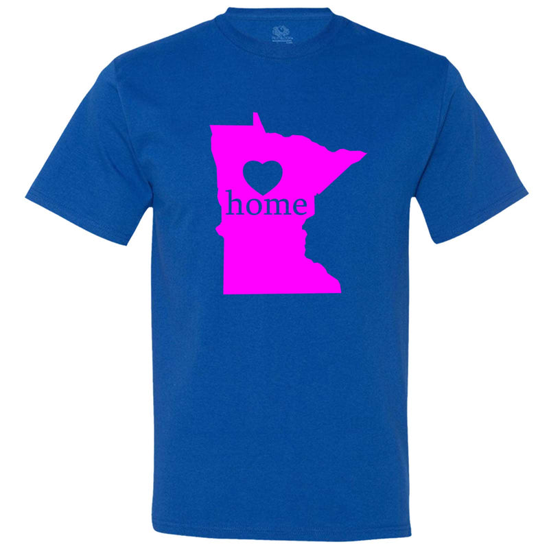 """Minnesota Home State Pride"" men's t-shirt Royal-Blue"