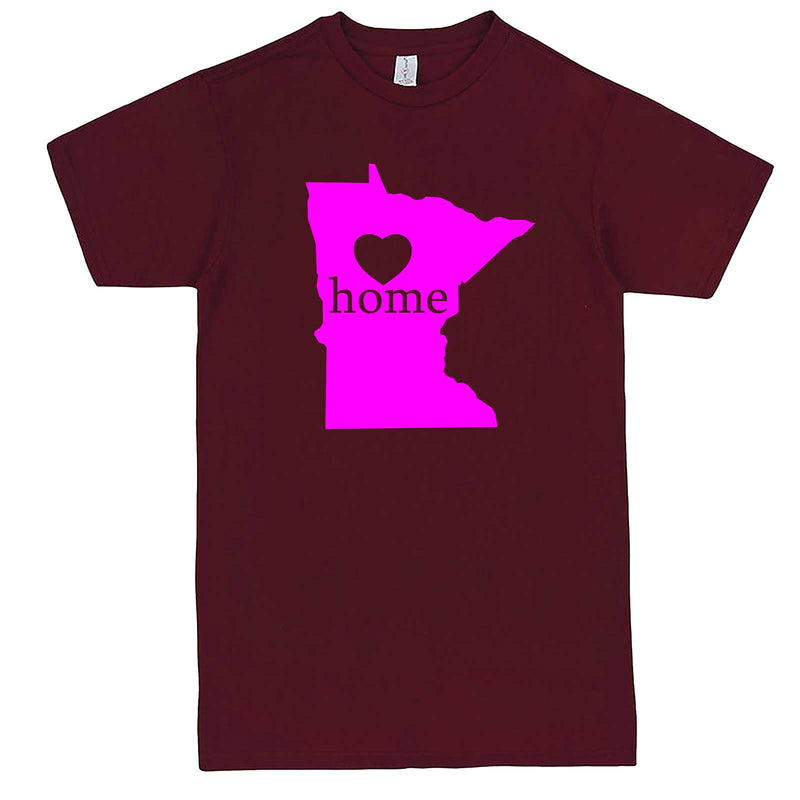 """Minnesota Home State Pride"" men's t-shirt Burgundy"