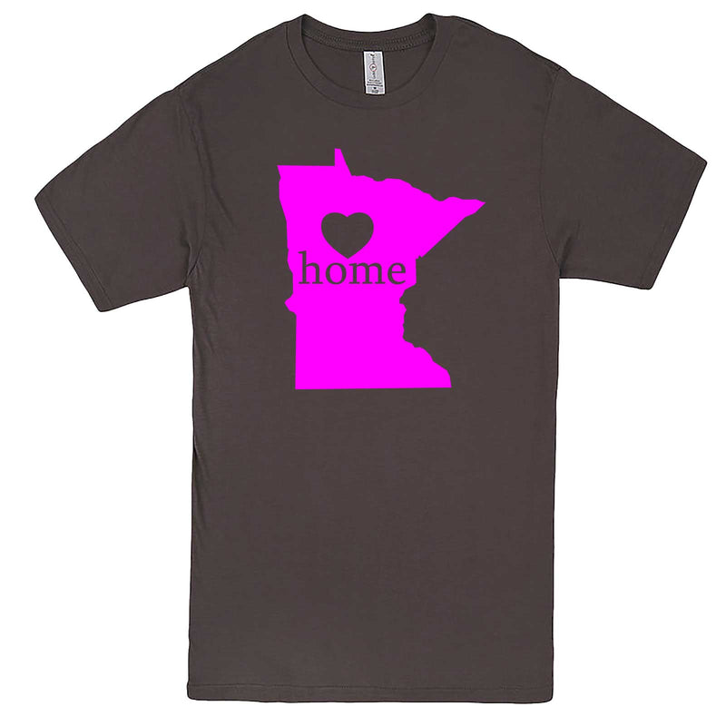 """Minnesota Home State Pride"" men's t-shirt Charcoal"