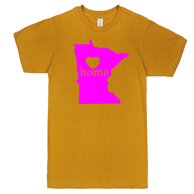 """Minnesota Home State Pride"" men's t-shirt Mustard"
