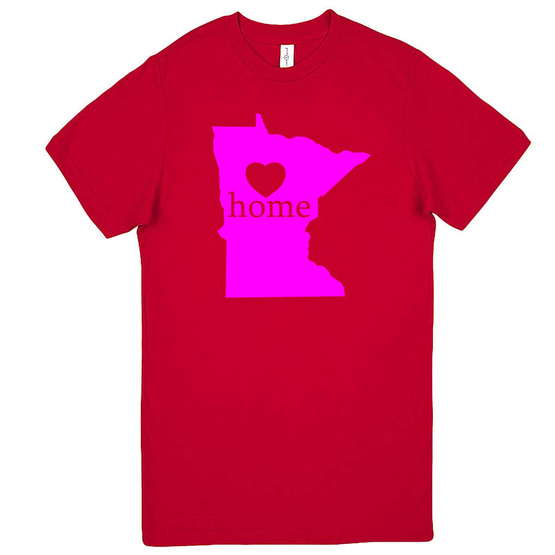 """Minnesota Home State Pride"" men's t-shirt Red"