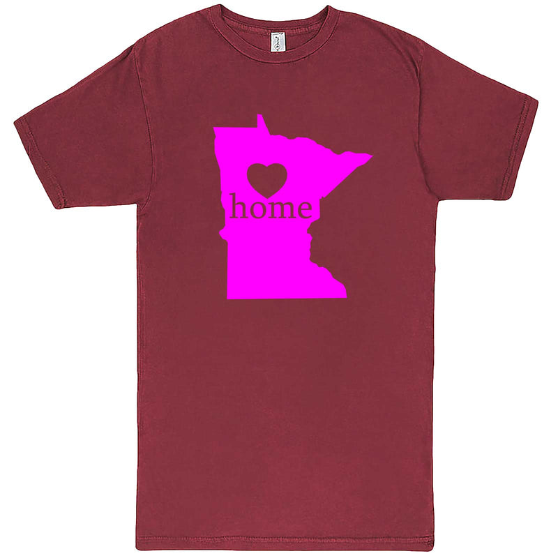 """Minnesota Home State Pride"" men's t-shirt Vintage Brick"