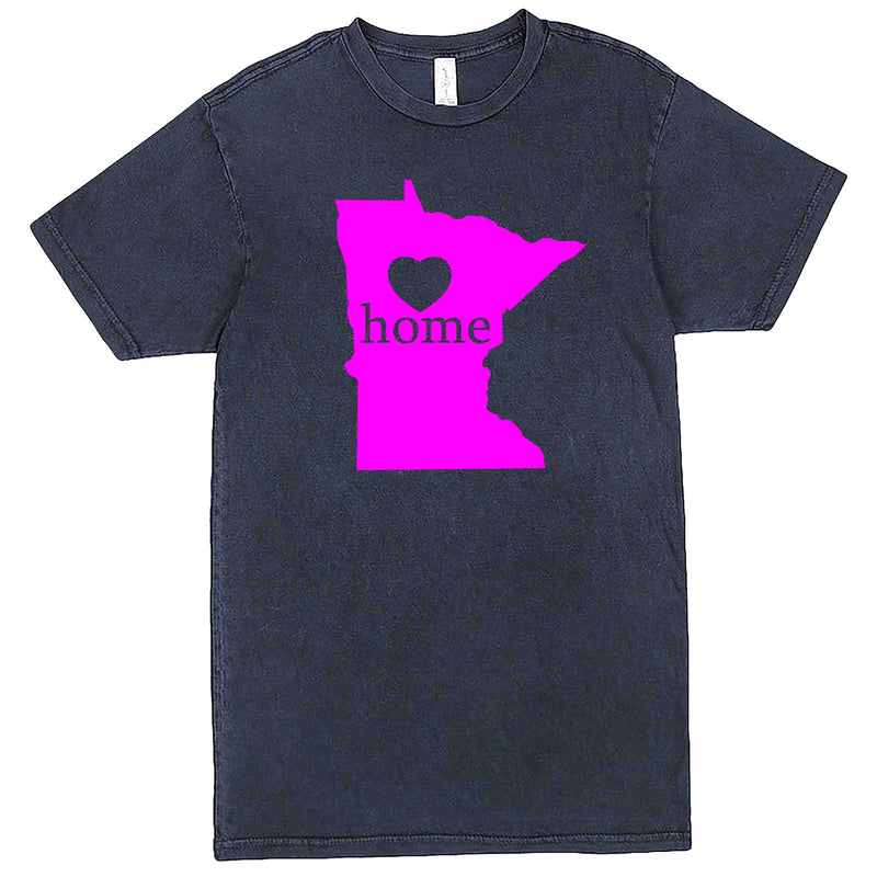 """Minnesota Home State Pride"" men's t-shirt Vintage Denim"