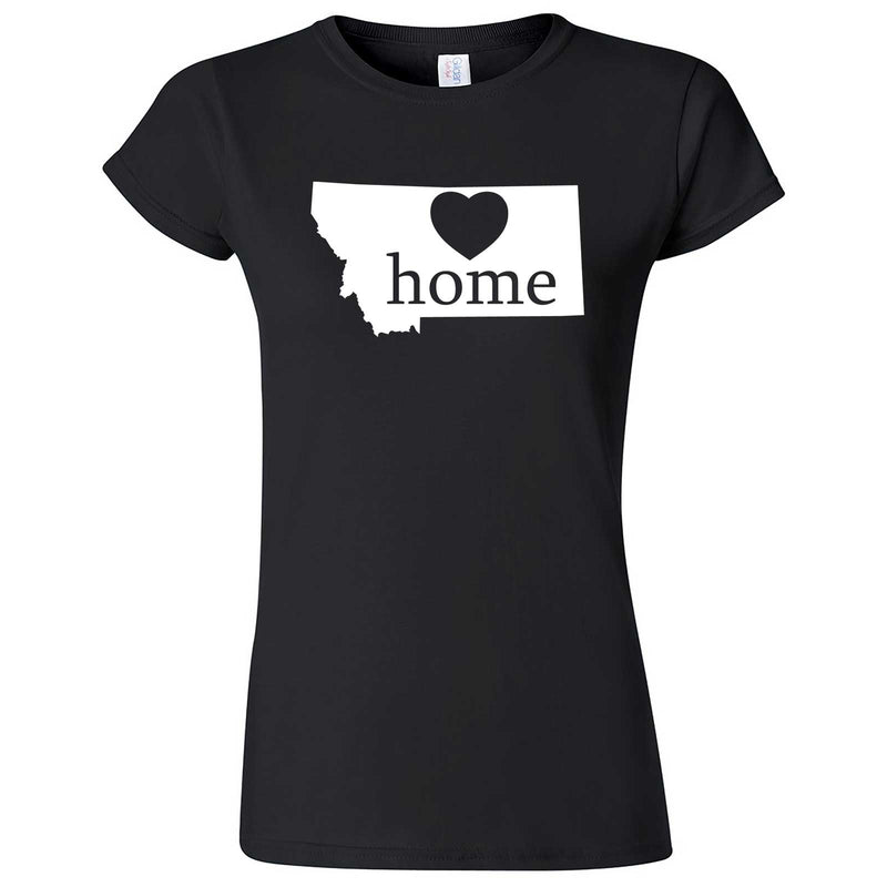 """Montana Home State Pride"" women's t-shirt Black"