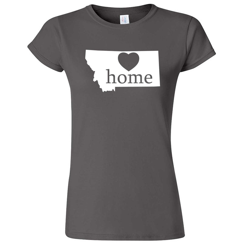 """Montana Home State Pride"" women's t-shirt Charcoal"