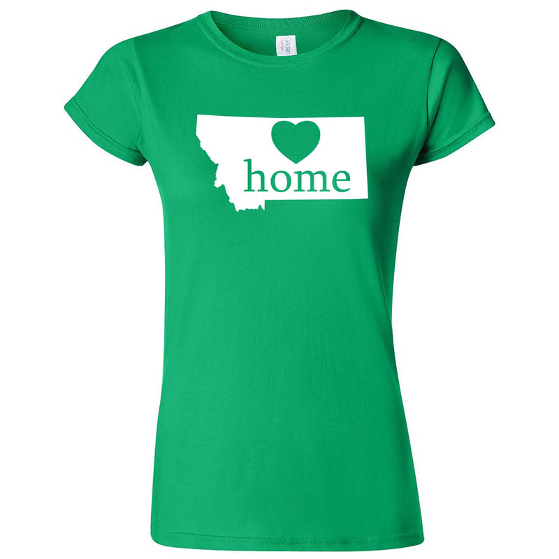 """Montana Home State Pride"" women's t-shirt Irish Green"