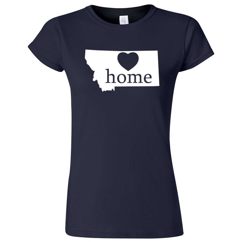 """Montana Home State Pride"" women's t-shirt Navy Blue"