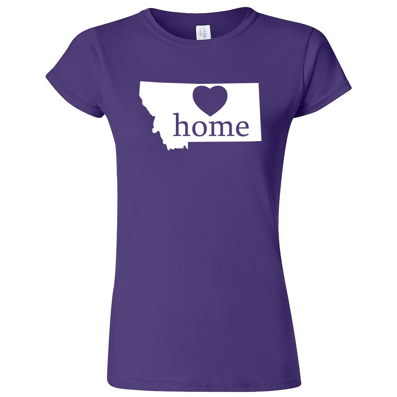 """Montana Home State Pride"" women's t-shirt Purple"