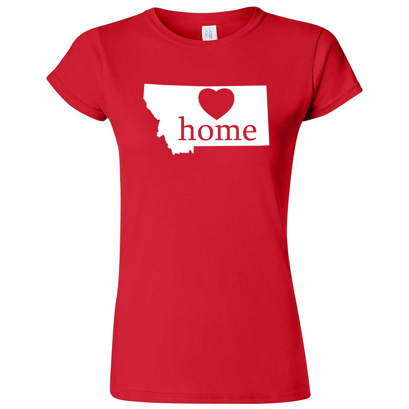"""Montana Home State Pride"" women's t-shirt Red"