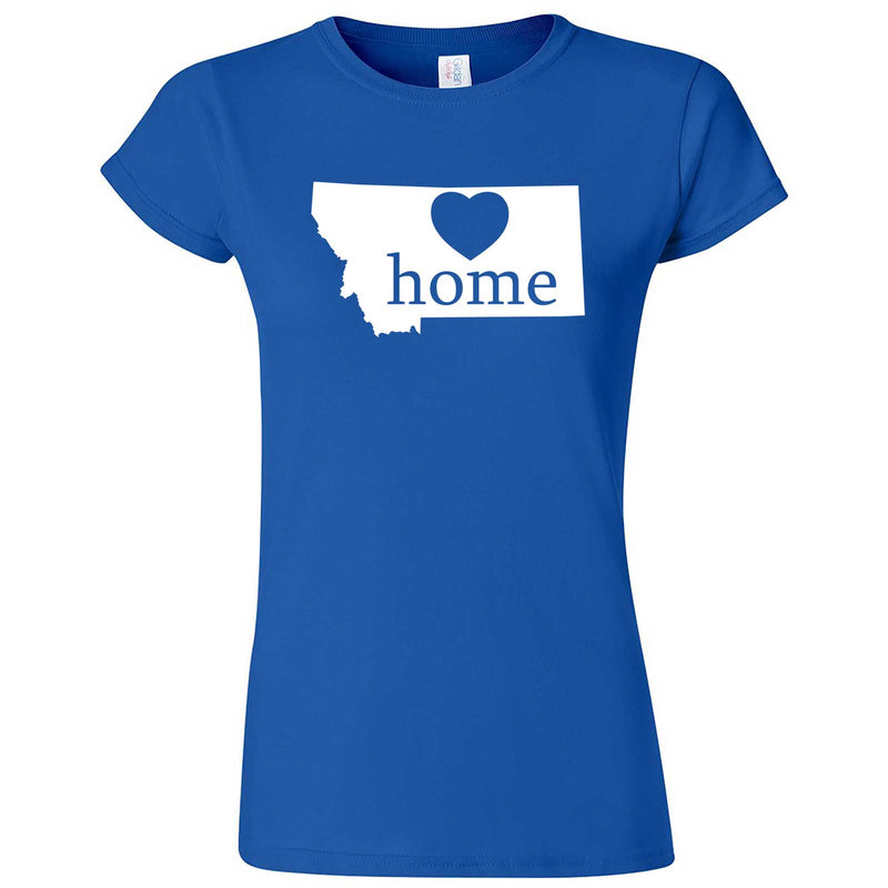 """Montana Home State Pride"" women's t-shirt Royal Blue"