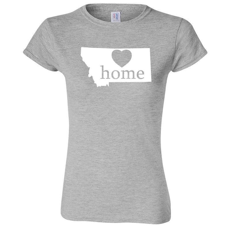 """Montana Home State Pride"" women's t-shirt Sport Grey"