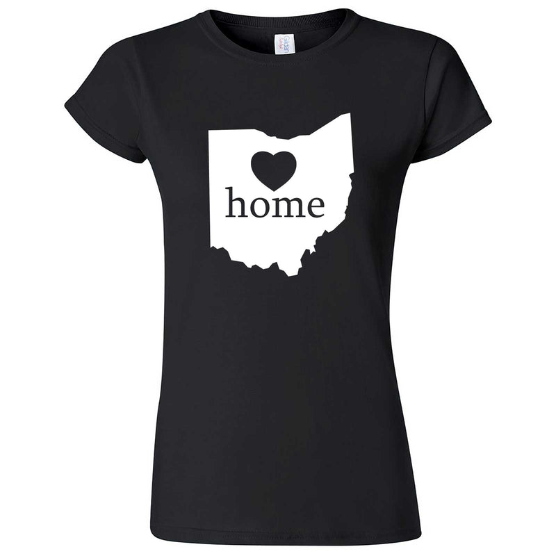 """Ohio Home State Pride"" women's t-shirt Black"