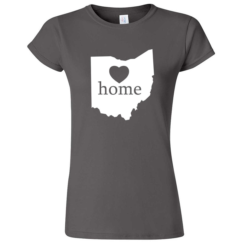 """Ohio Home State Pride"" women's t-shirt Charcoal"