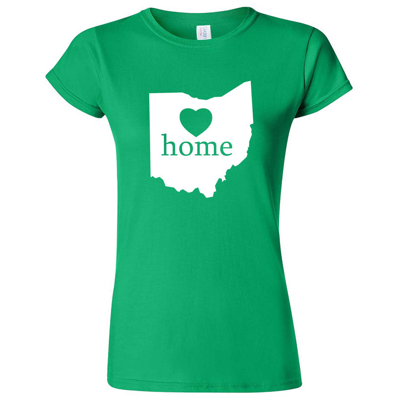 """Ohio Home State Pride"" women's t-shirt Irish Green"