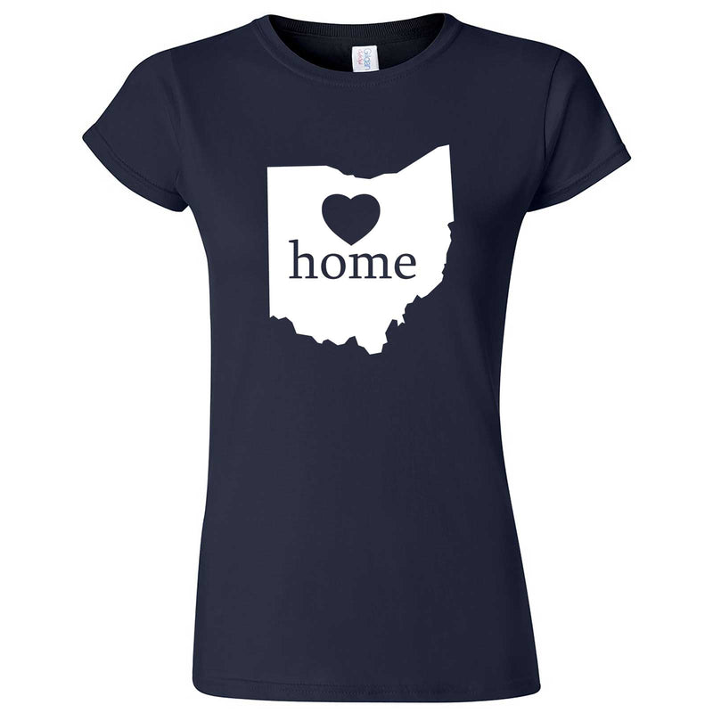 """Ohio Home State Pride"" women's t-shirt Navy Blue"