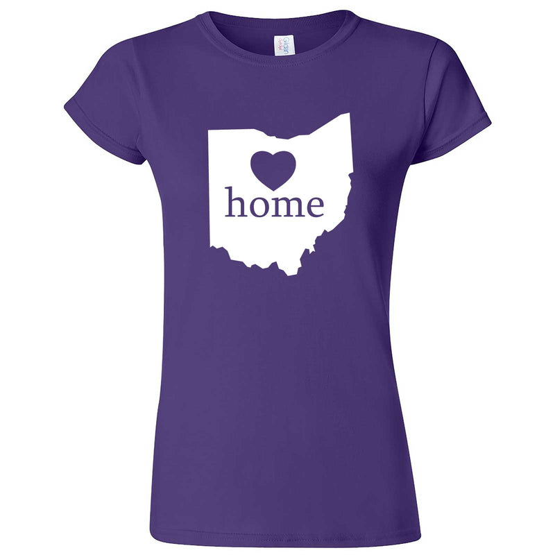 """Ohio Home State Pride"" women's t-shirt Purple"