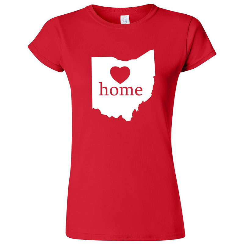 """Ohio Home State Pride"" women's t-shirt Red"