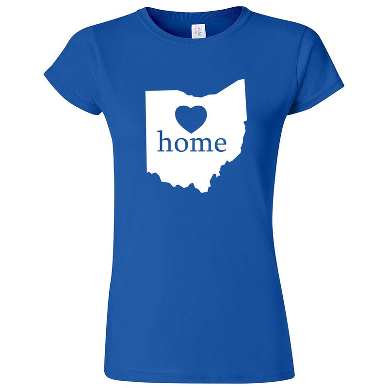 """Ohio Home State Pride"" women's t-shirt Royal Blue"
